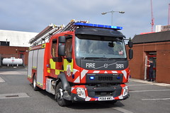Salford Fire Station (Liam Blundell Photography) Tags: volvo emergencyone salford g58p1 manchester gmfrs greatermanchesterfirerescue papa1 blue lights bluelights fireengine firefighters firestation nikond3400 18105mm po68wws