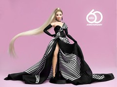 Tribute to the 60th Anniversary of Barbie. (davidbocci.es/refugiorosa) Tags: barbie mattel fashion doll muñeca refugio rosa david bocci ooak anniversary aniversario 60th 60 karl curvy mtm