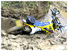 Wrong Turn! (The Stig 2009) Tags: weekend dirty thestig2009 thestig stig 2009 2019 tony o tonyo wheel mud dirtbike suzuki drz400 sunk sinking stuck dirt green lane